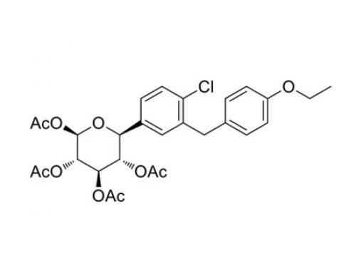 (2R,3S,4R,5S,6S)-6-(4-chloro-3-(4-ethoxybenzyl)phenyl)tetrahydro-2H-pyran-2,3,4,5-tetrayl tetraacetate